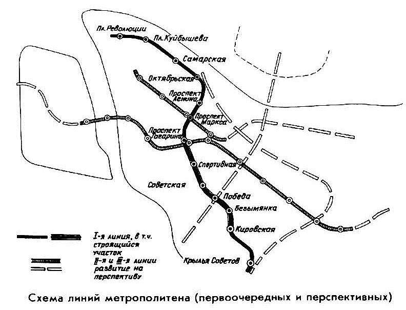 Схема проектируемых линий